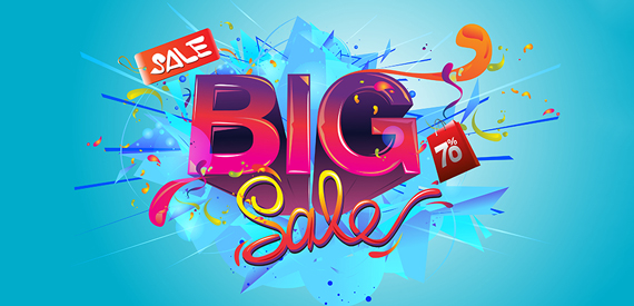 Big Sale In Shopping Mall